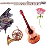Illustrations of musical instruments